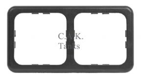 CBE 2 MODULE SLIM SIMPLE CORNICE FRAME GREY